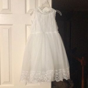Other - White sleeveless dress with toile bottom & lace